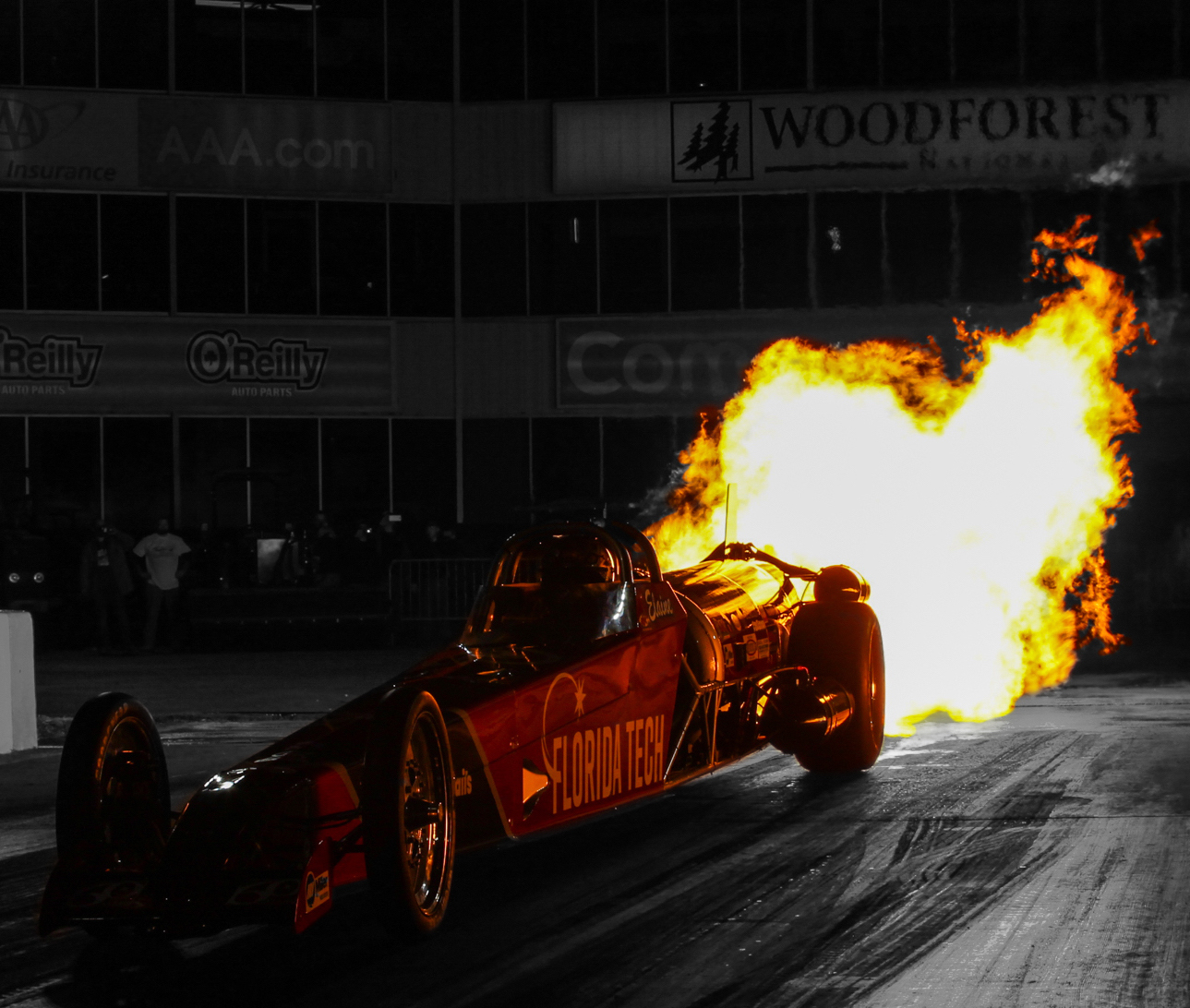 Featured image shows one of Larsen Motorsports' current Florida Tech dragsters. Photo via Larsen Motorsports.