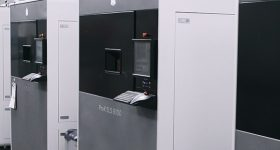 Featured image shows a line of ProX SLS 6100 machines. Photo via 3D Systems.