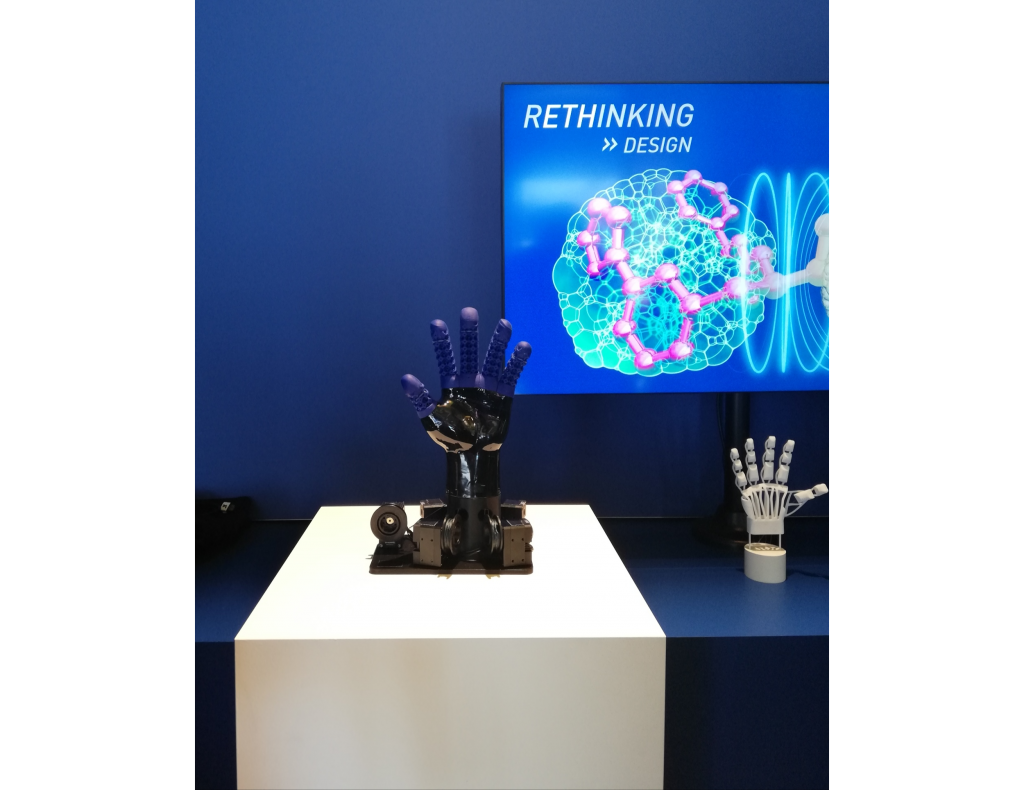 A 3D printed silicone prosthetic hand. Photo via Spectroplast.