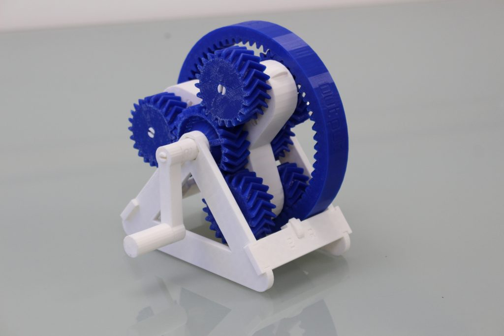 Transmission gearbox test. Photo by 3D Printing Industry.