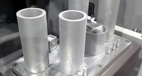 Large cylinder samples printed with A20X. Image via Aluminium Materials Technologies.