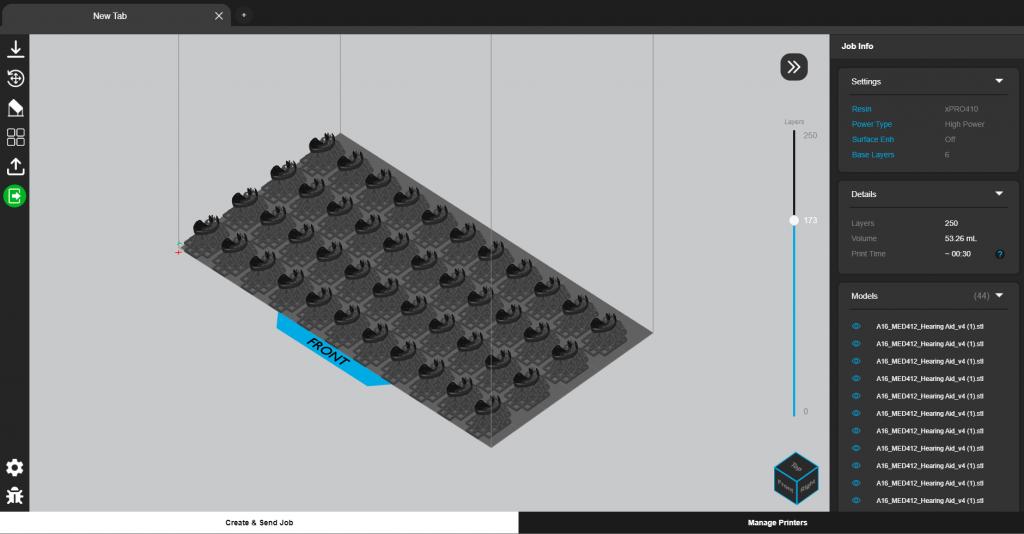 NexaX 2.0 features optimized build plate nesting functionality. Image via Nexa3D.