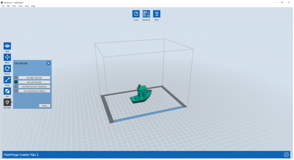 FlashPrint's user interface. Image by 3D Printing Industry.