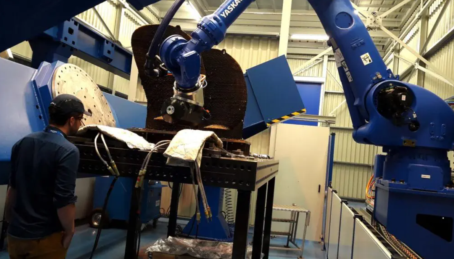 The propeller being 3D printed. Photo via Naval Group.