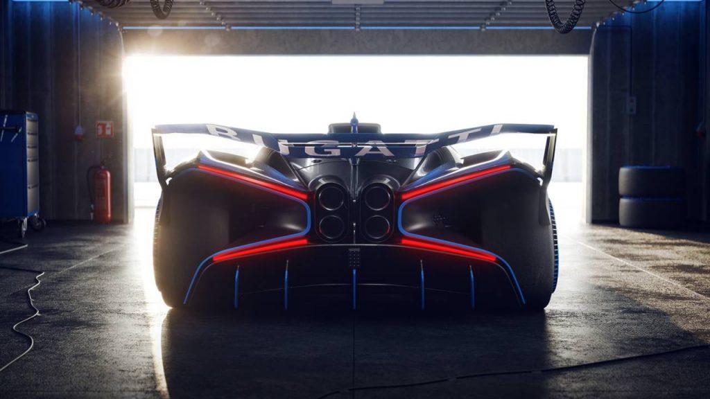 The rear of the Bugatti Bolide. Image via Bugatti.