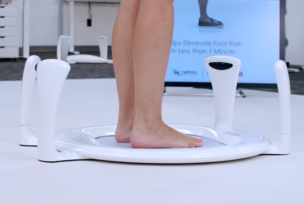 Aetrex launched the second iteration of its 'Albert' foot scanner at CES 2021. Photo via Aetrex.
