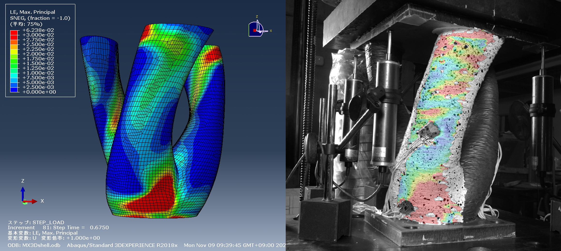 Analysis of the 3D printed structural steel connectors. Image via MX3D.