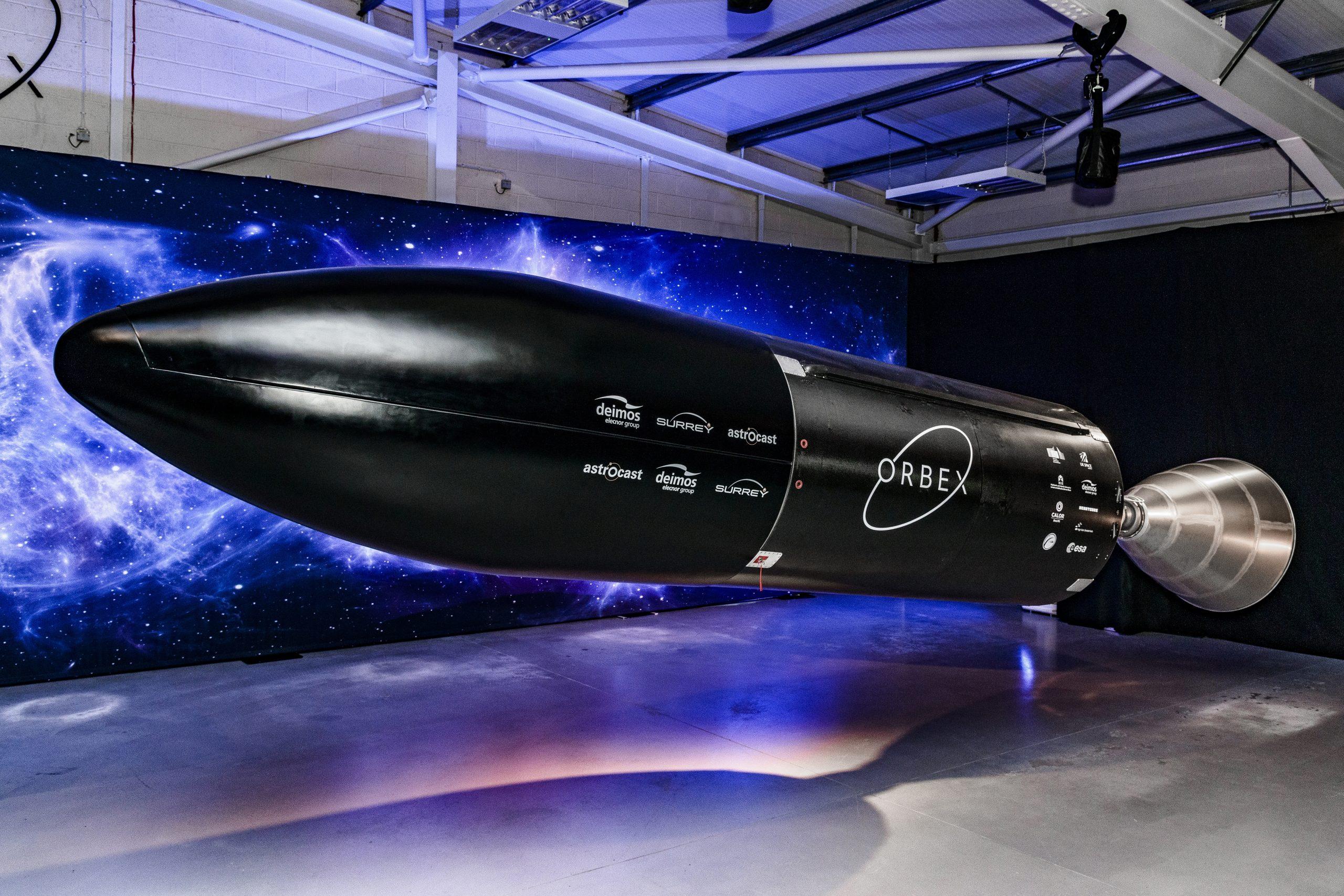 Orbex's Stage 2 Prime rocket. Image via Orbex.