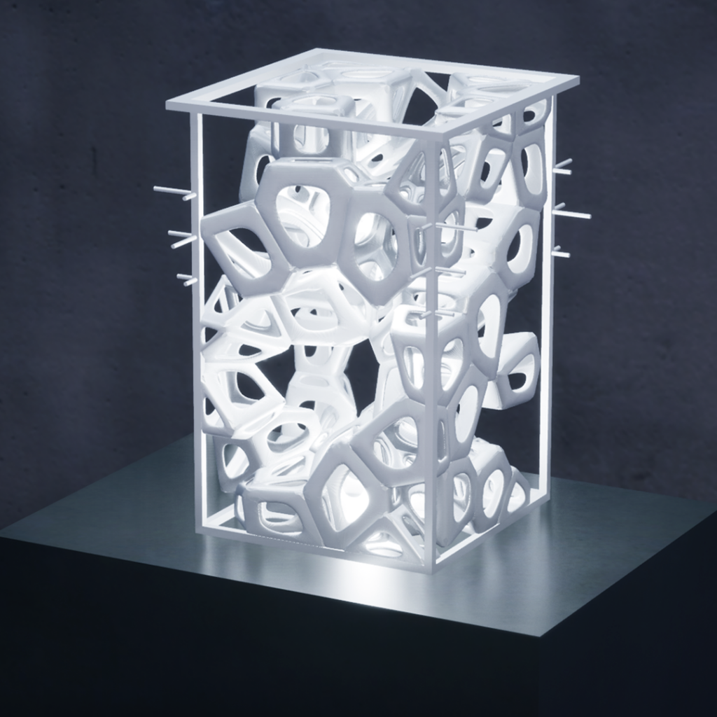 The winning 3D printed Lou'Lou' lamp. Photo via Khawarizm Studio.