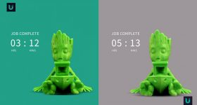 Baby Groot with and without Ulendo FBS.