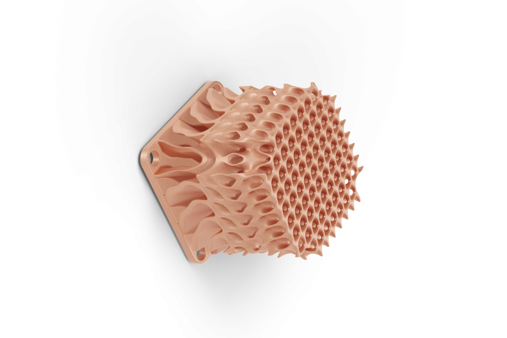Digital Metal's optimized heat sink 3D printed using pure copper powder. Photo via Digital Metal.
