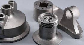 Metal parts 3D printed using Ultrafuse 316L filament. Photo via Sculpteo.