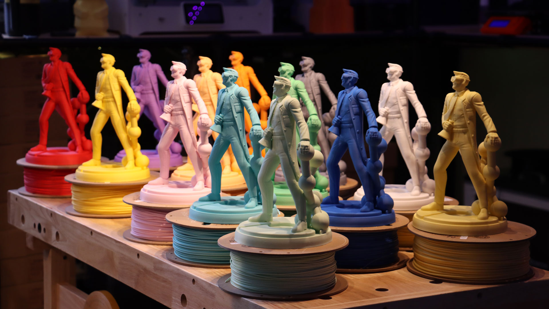 The full color range of the PolyTerra PLA filament. Photo via Polymaker.