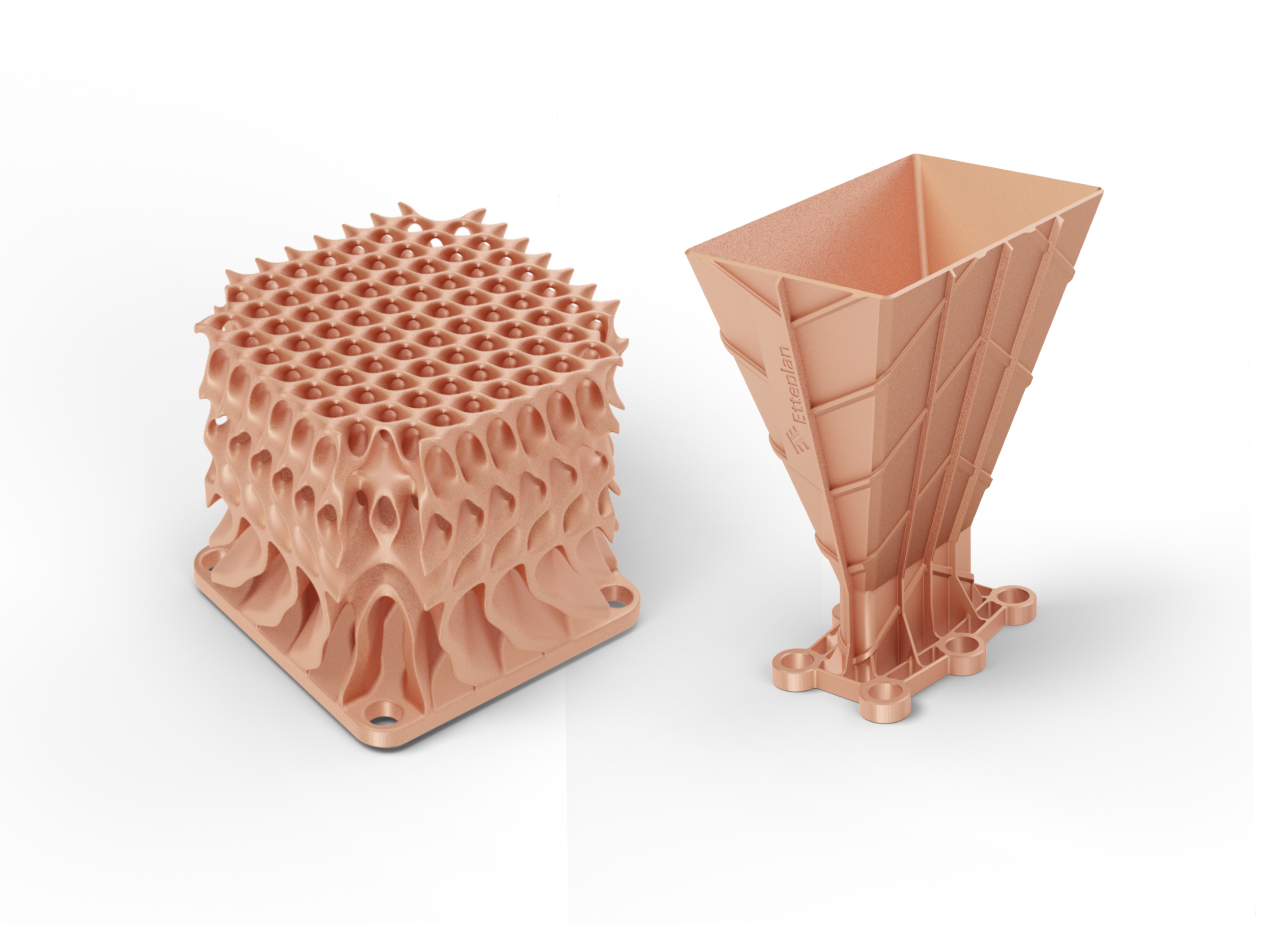 Pure copper parts 3D printed by Digital Metal.