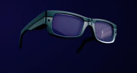 Rendering of the 3D printed lenses in a frame. Image via WaveOptics.