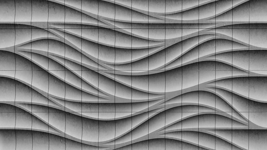 The facade panels will flow into each other in a wave-like pattern. Image via Branch Technology.