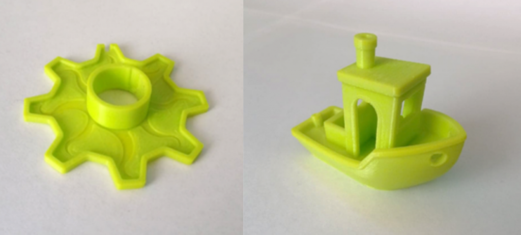 The PETG print tests. Photos by 3D Printing Industry.