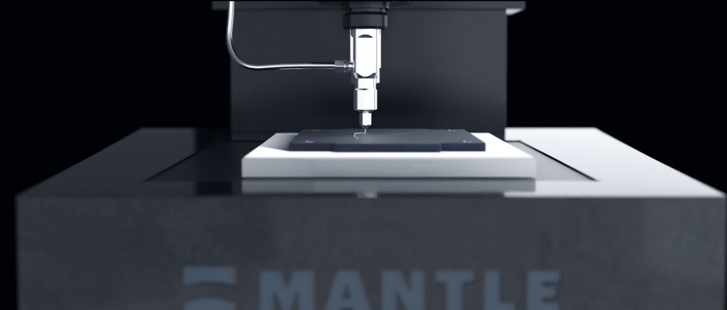 The build plate of the Mantle 3D printer. Image via Mantle.