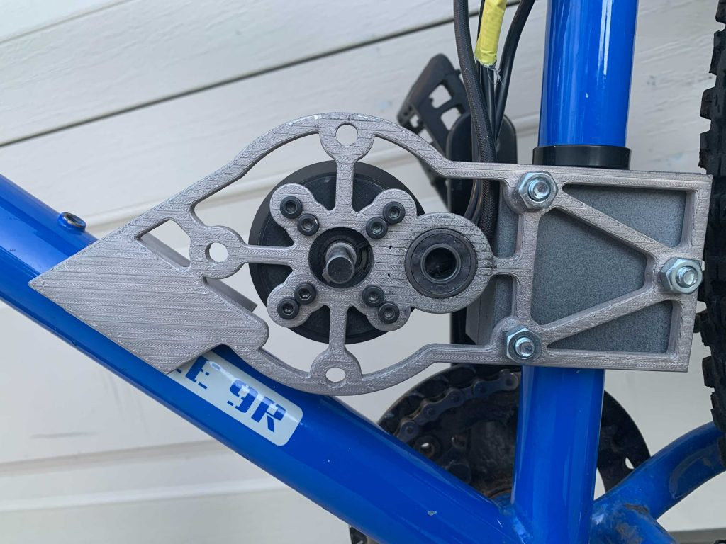 An eBike motor mount 3D printed on the Studio System 2. Photo via Desktop Metal.