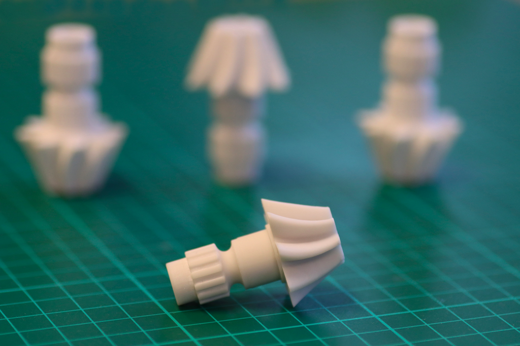 A 3D printed gear produced using Liqcreate's Composite-X resin.