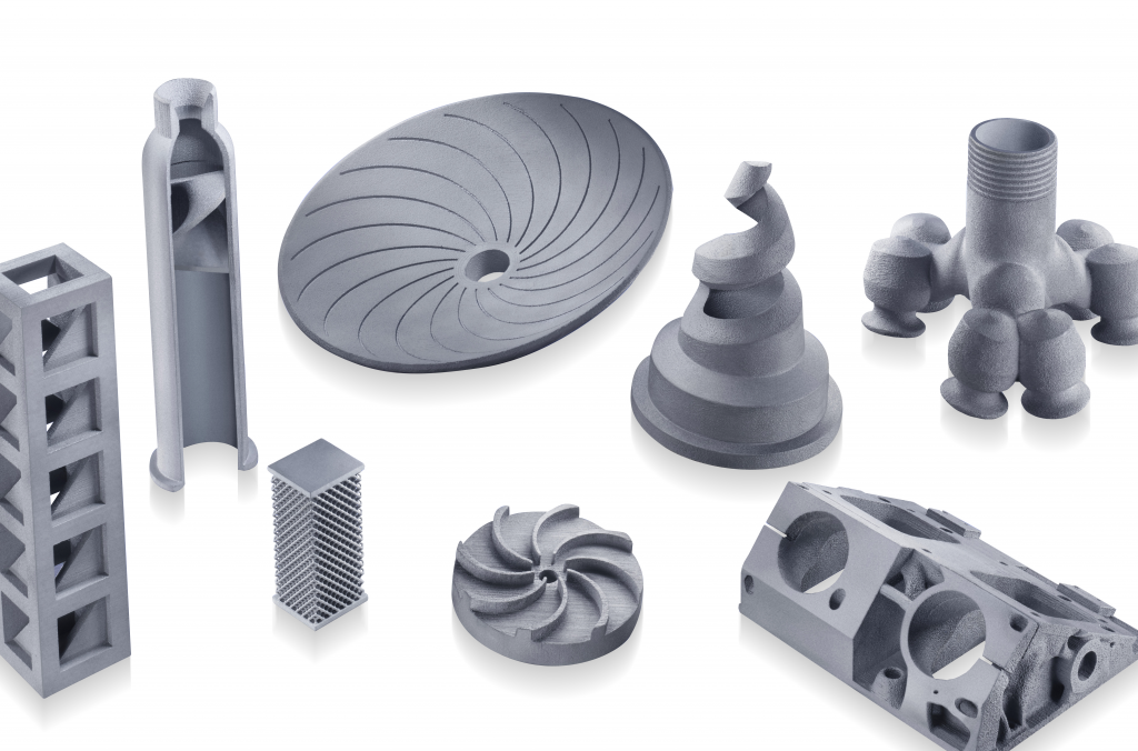 A selection of 3D printed parts created using CeramTec's new material.