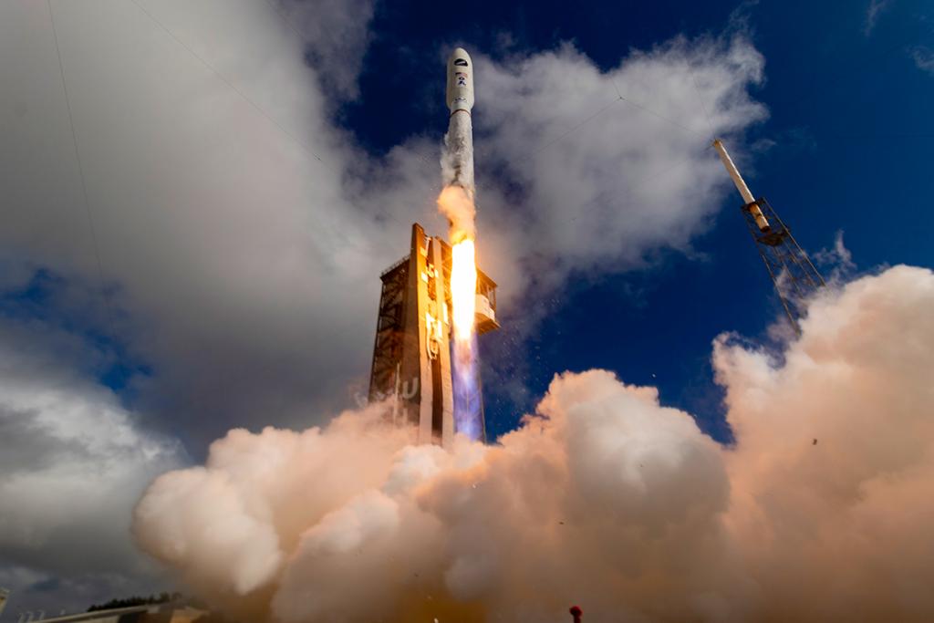 An image of the Atlas V being launched into space. Image via NASA.