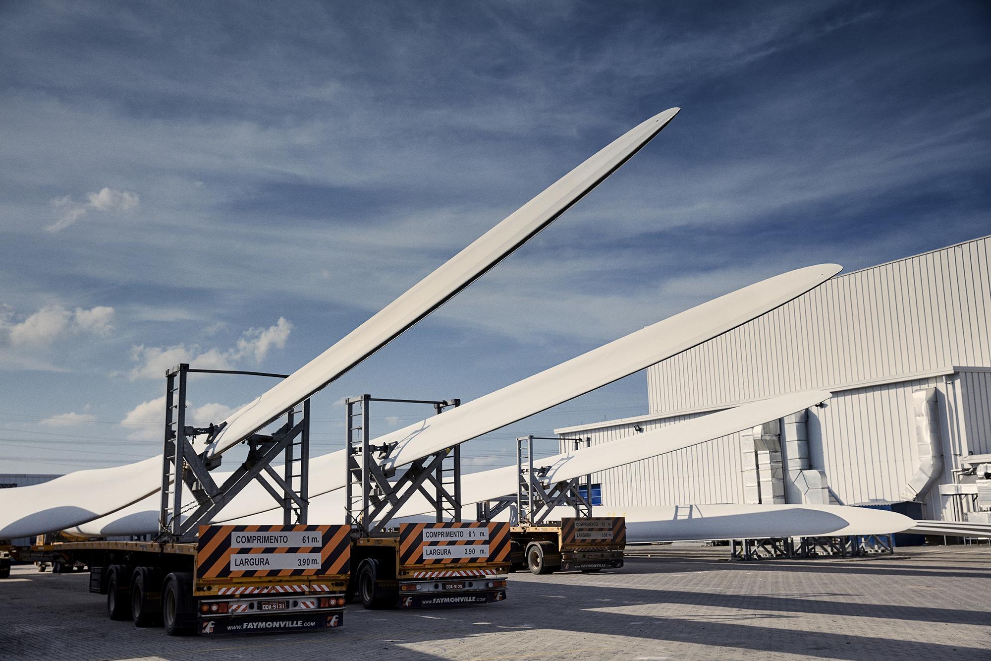 LM Wind Power turbine blades.