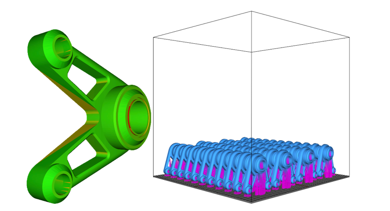 Wall thickness analysis and part nesting in SelectAM's automated part identification software for use with a 3D printer