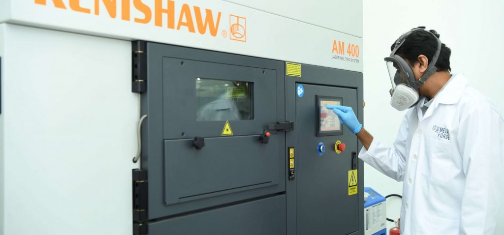 SLM 3D printing at a 3D Metalforge manufacturing facility. Photo via 3D Metalforge.