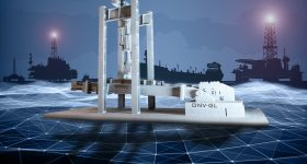 A 3D printed aluminum replica of mooring chain testing bed at the DNV's lab in Bergen. Image via DNV GL.