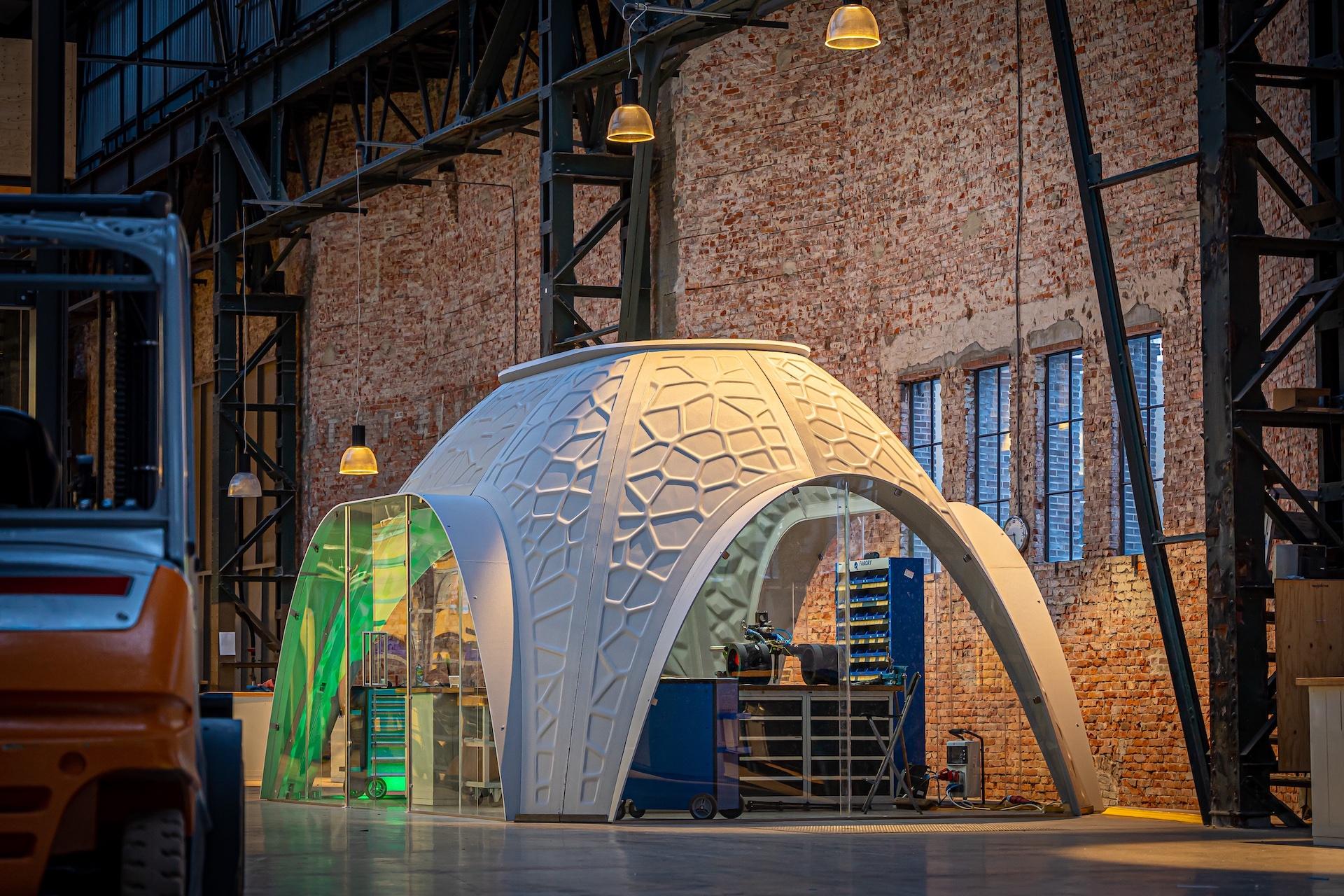 The 3D printed modular R-IGLO. Photo via ARCHITECH Company.