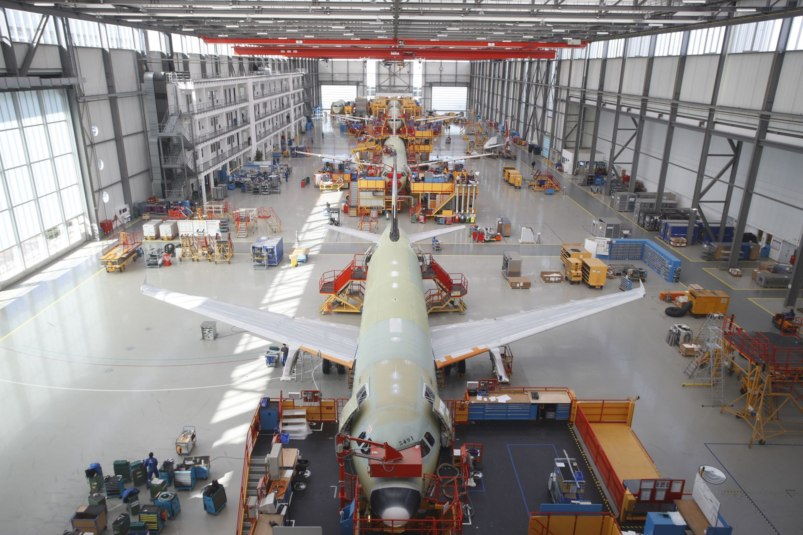Airbus A320 production facility. Photo via Airbus.
