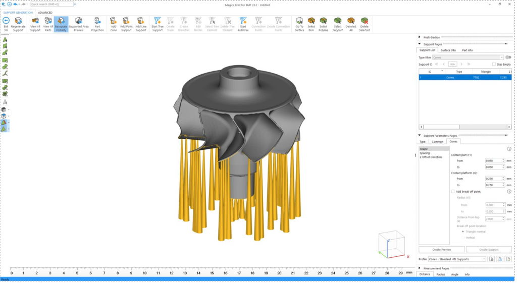 BMF's Magics Print software. Image via Materialise.