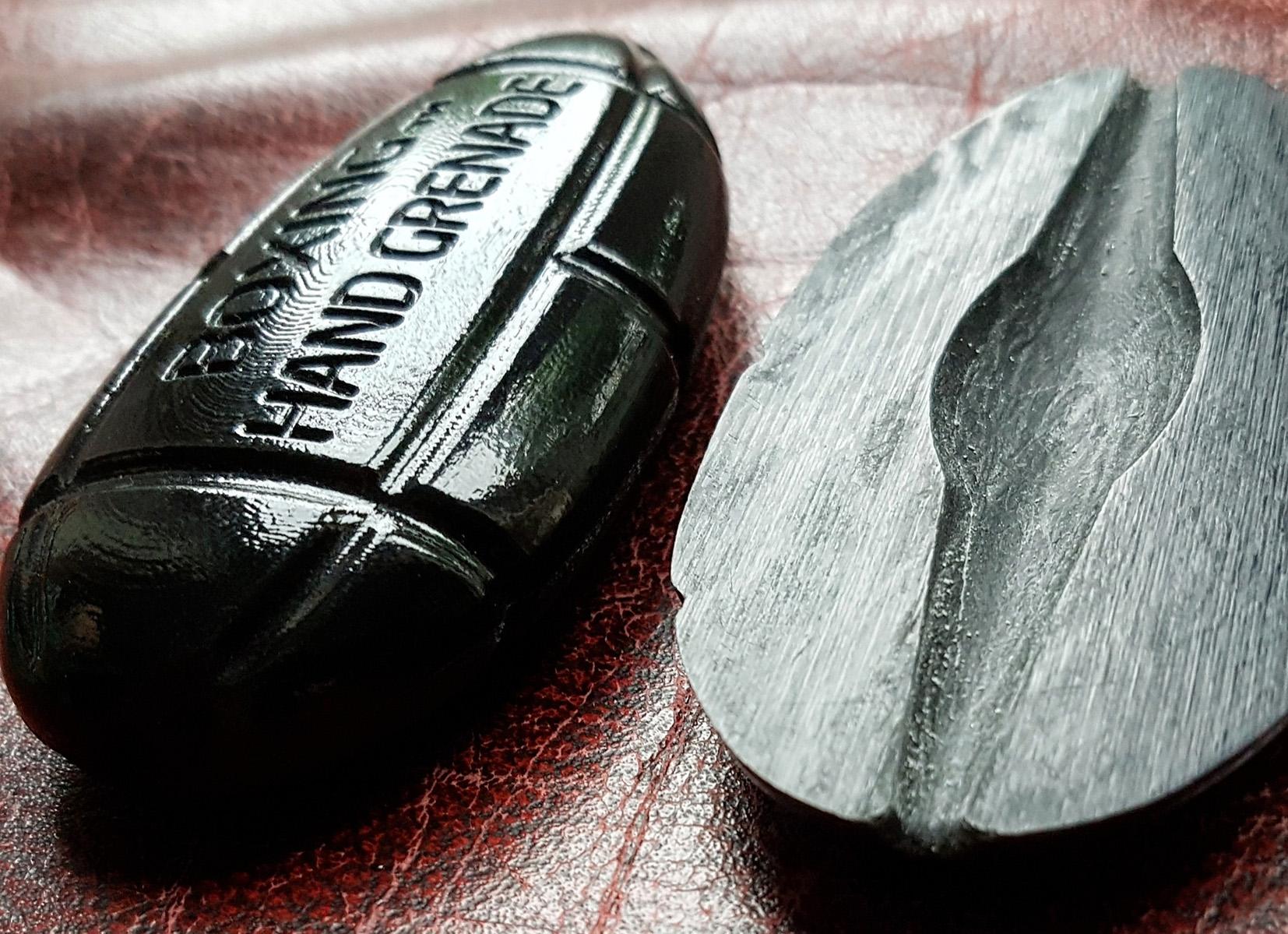 The Boxing Hand Grenade. Photo via Protolabs.