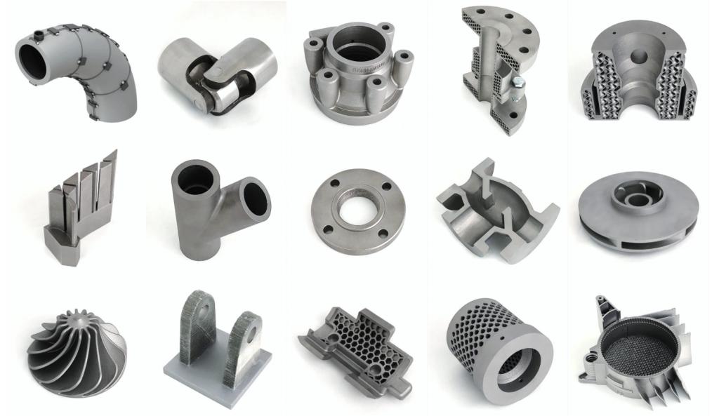 Metal parts 3D printed by 3D Metalforge. Photo via 3D Metalforge.