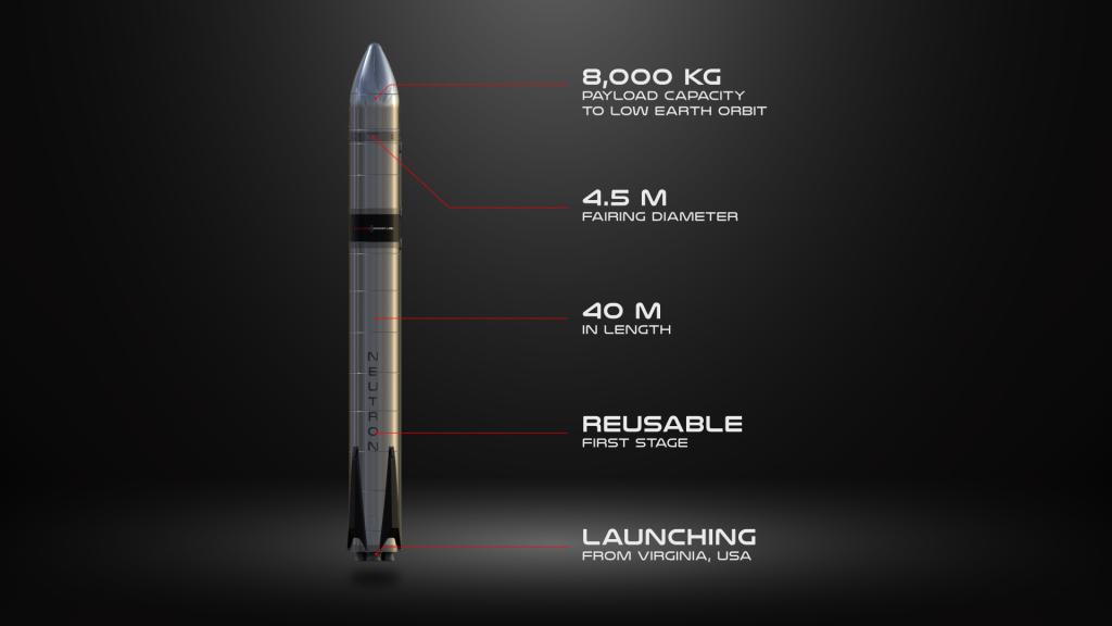 A render of Rocket Lab's upcoming 3D printed Neutron rocket. Image via Rocket Lab.