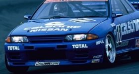 The racing version of the Nissan NISMO Skyline GT-R R32.