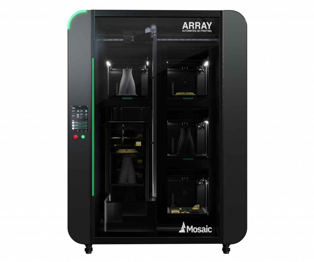 The Array multi-material 3D printing system. Photo via Mosaic Manufacturing.