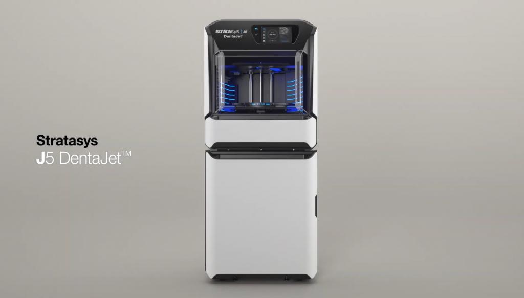 The Stratasys J5 DentaJet 3D printer. Photo via Stratasys.