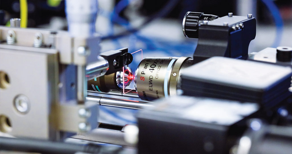 The specially developed KAUST 3D printer uses UV lasers to manufacture optical fibers. Photo via KAUST.