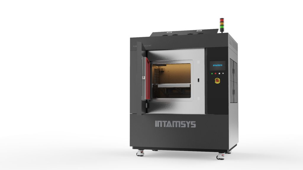 The upcoming FUNMAT PRO 610 HT 3D printer. Photo via INTAMSYS.