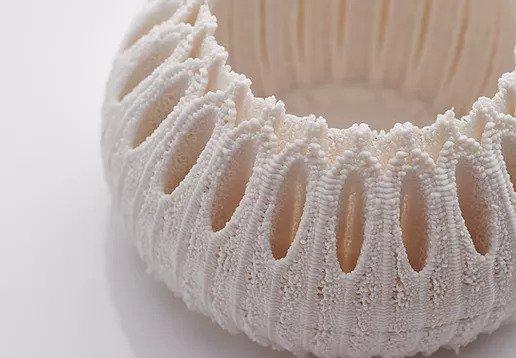 Nico Conti's Urchin 3D printed porcelain. Photo via Nico Conti.