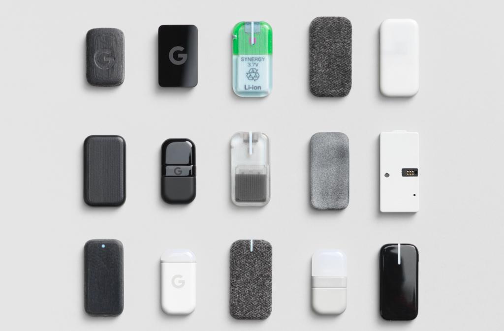 Google's Stratasys-3D printed 'Jacquard' wearable motion sensor prototypes.