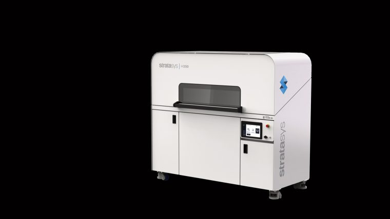 The H350 3D printer, featuring SAF technology. Photo via Stratasys.