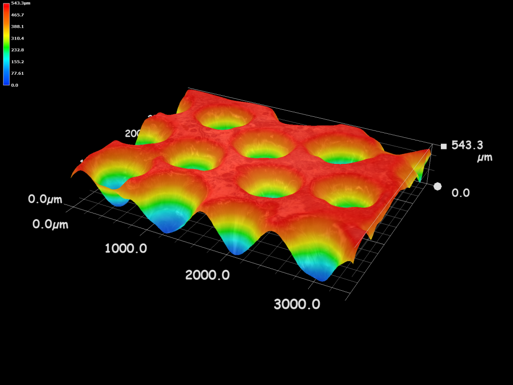 A thermal image of one of Allegro 3D's 3D printed microwells.