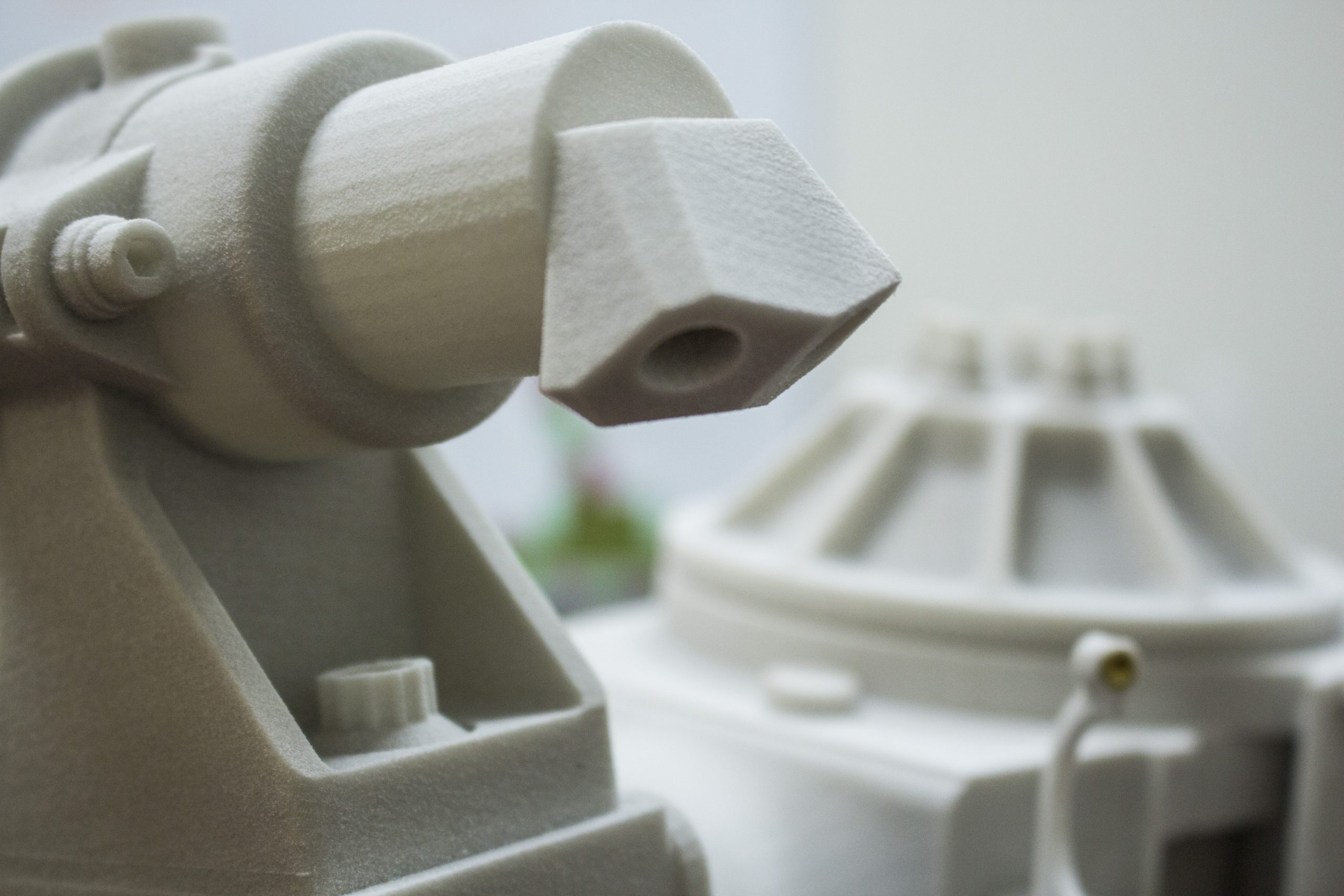 3D printed plastic parts from Xometry. Photo via Xometry.