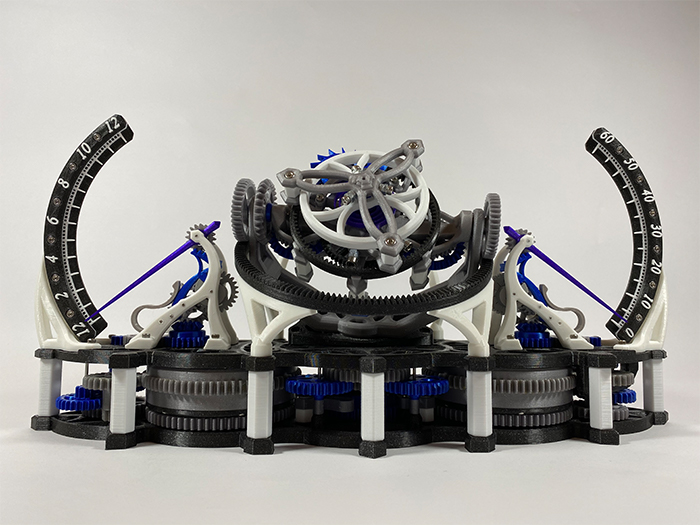 Mechanistic's Tourbillon Mechanica Tri-Axial. Photo via MyMiniFactory.