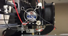 The researchers hot end setup on a Prusa i3 3D printer.