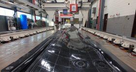 The 22-foot-long vacuum trim tool. Photo via Ingersoll.