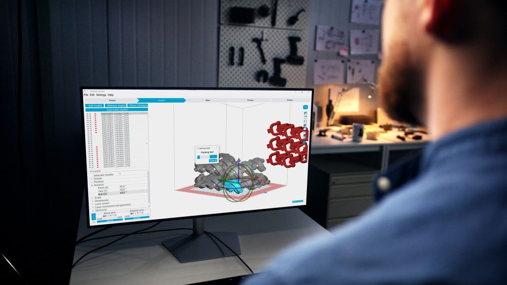 Sinterit Studio 2019 software. Photo via Sinterit.